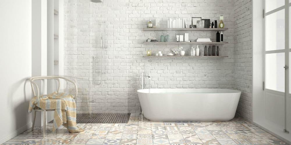Skab et moderne badeværelsesgulv nemt og billigt med beton maling fra Conteco